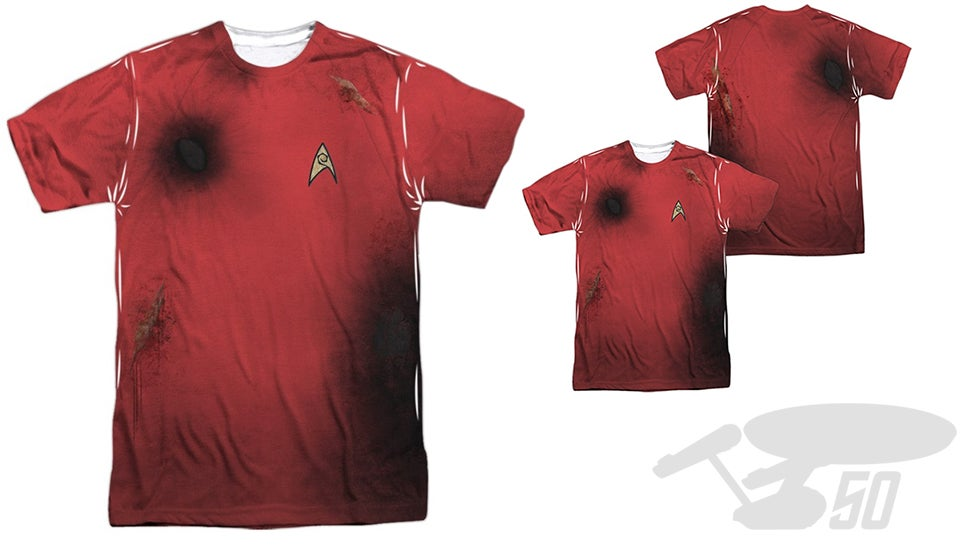 Pre-Damaged Star Trek Redshirt Tee Saves You the Pain and Suffering