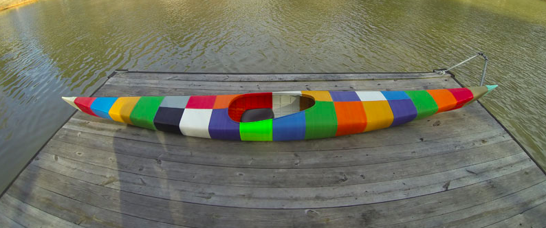 The World's First 3D-Printed Kayak Is Adorably Colourful