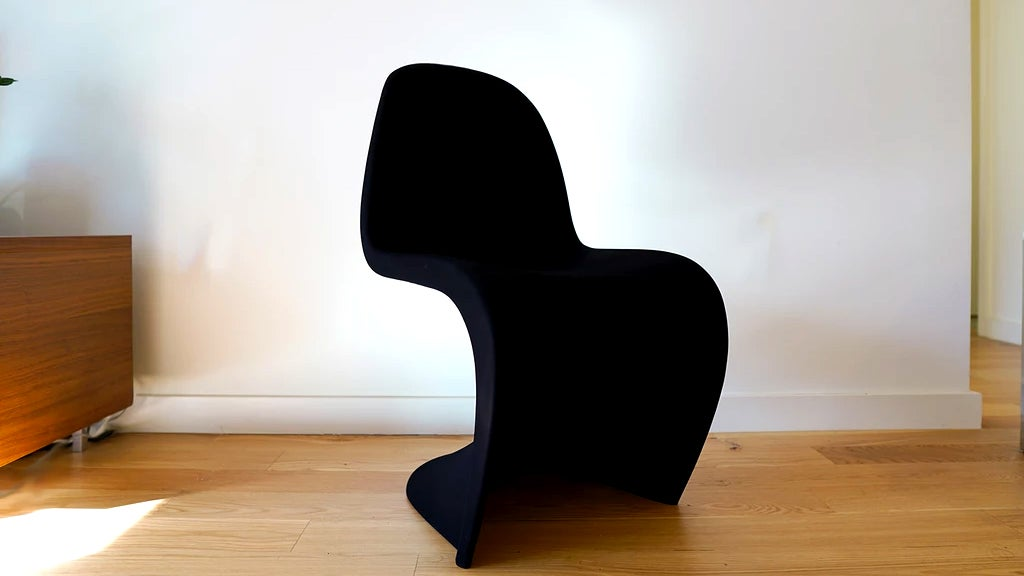 In The Middle Of The Night You Will Definitely Trip Over This Chair Covered In The Blackest Black Paint