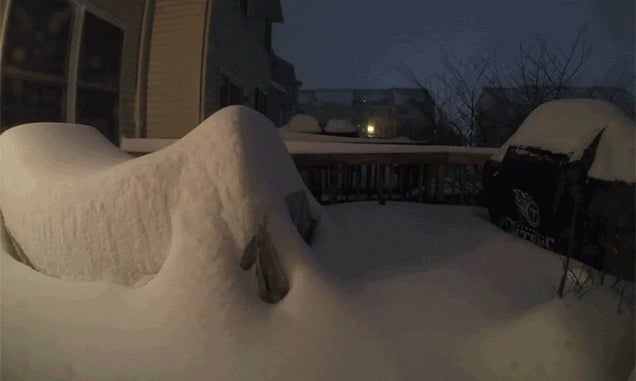 Time Lapse Shows How Much Snow Fell During the Blizzard of 2016