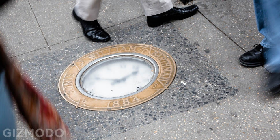There's a 130-Year-Old Clock Embedded in a New York City Sidewalk