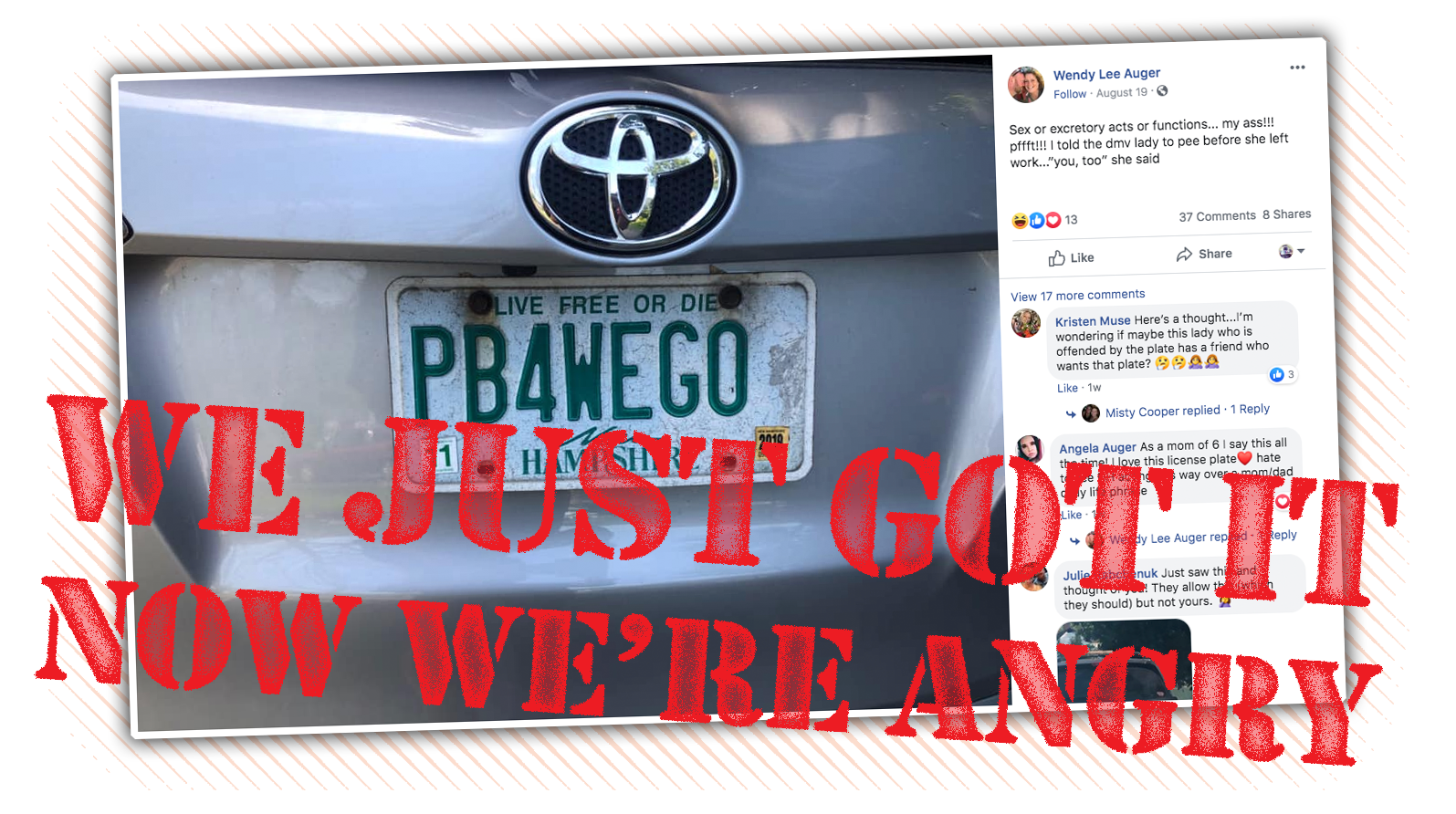 Mum's Licence Plate Recalled After It Took 15 Years To Figure Out A Pee Joke