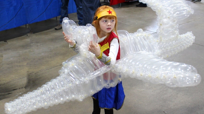 Just Let This Little Girl's Wonder Woman Invisible Jet Costume Win Every Contest