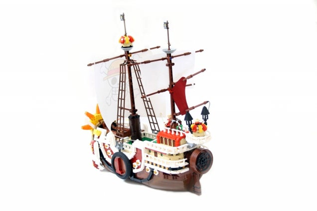 The Thousand Sunny From One Piece In Shiny LEGO Form