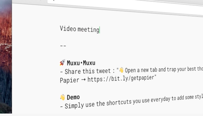 Papier Lets You Jot Down Quick Notes in a New Browser Tab