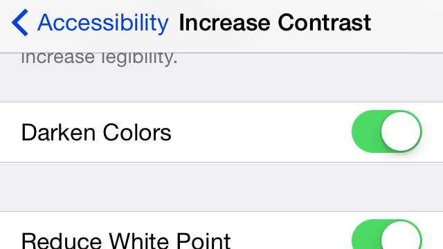 Tweak These Settings To Darken iOS 7