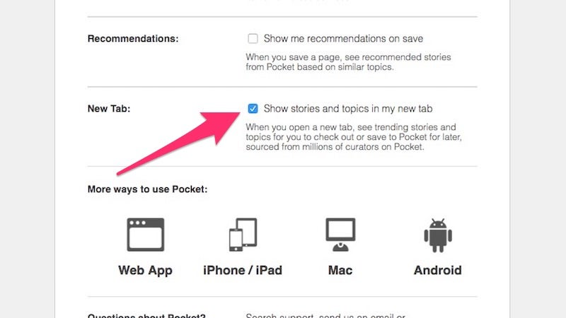 How To Disable Pocket's New Tab Page Display