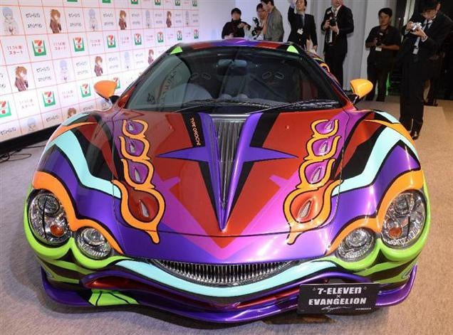 Neon Genesis Evangelion Turned into a Hideous Japanese Car