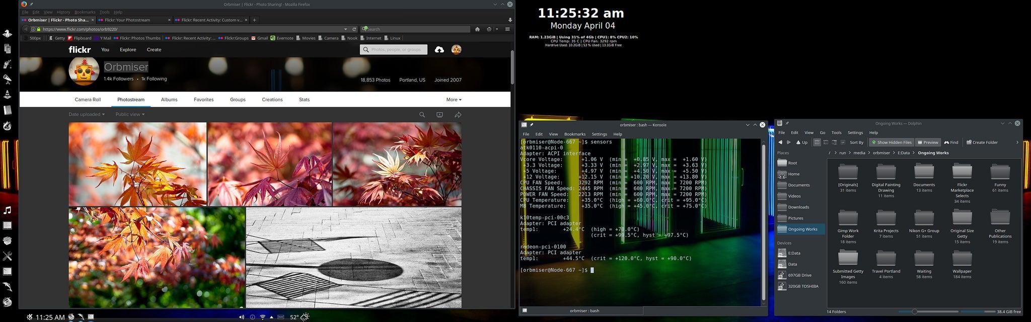 The Mirrored Colour Dual-Monitor Desktop