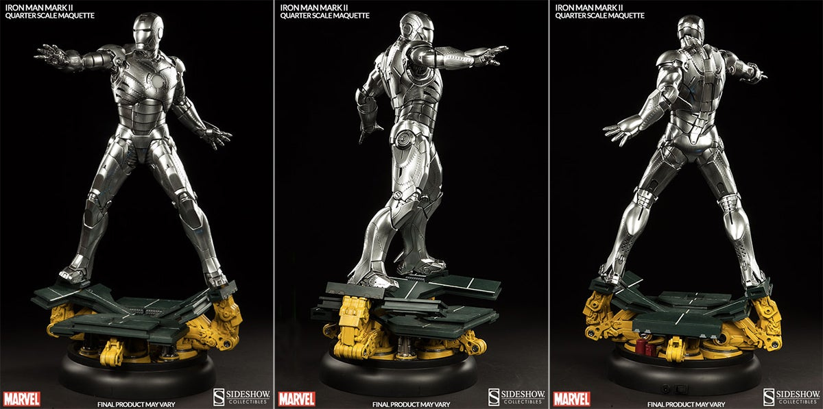 It's Too Bad This Stunning Iron Man Mark II Statue Doesn't Move