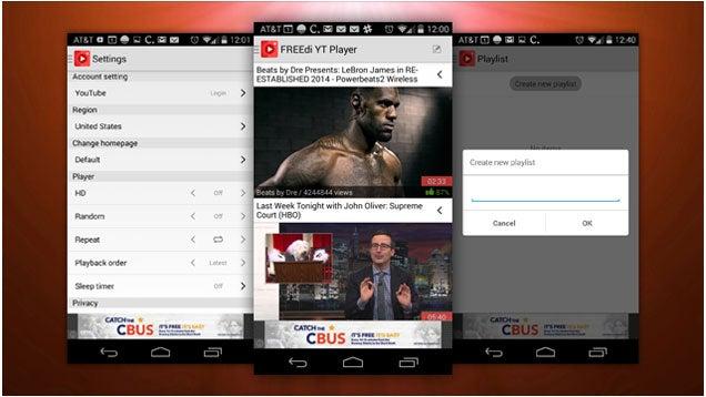 FREEdi YouTube Player Enables Background YouTube Videos