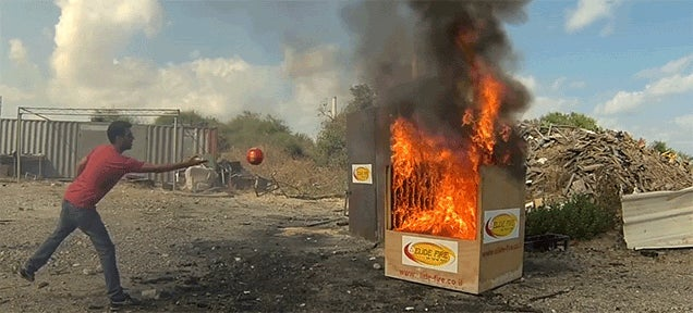This Ball of Magic Instantly Extinguishes Any Fire
