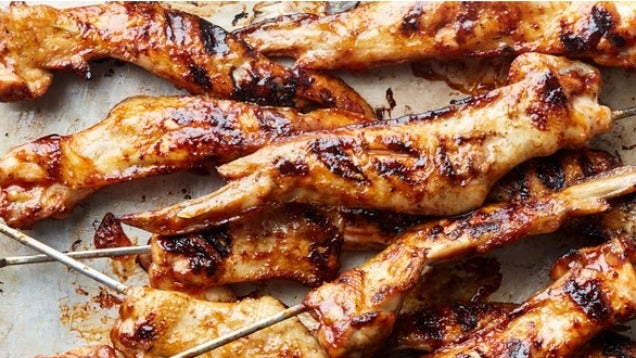 Skewer And Grill Chicken Wings For Most Delicious, Crispy Skin