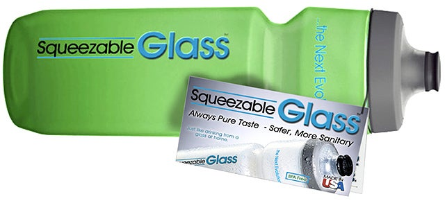 A Squeezable 'Glass' Water Bottle That Won't Collect Tastes Or Smells
