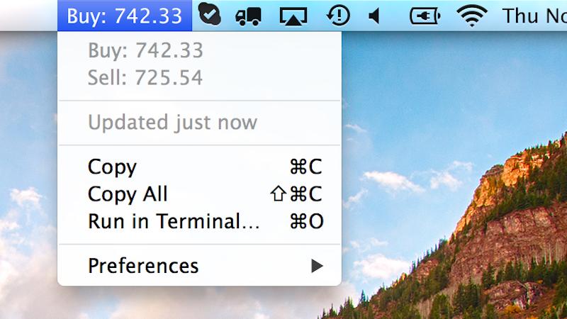 BitBar Stuffs All Kinds Of Customisable Info In Your Mac's Menu Bar