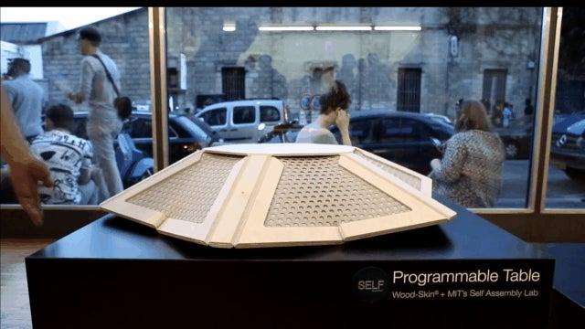 MIT's Flatpack Furniture Assembles Itself In Seconds
