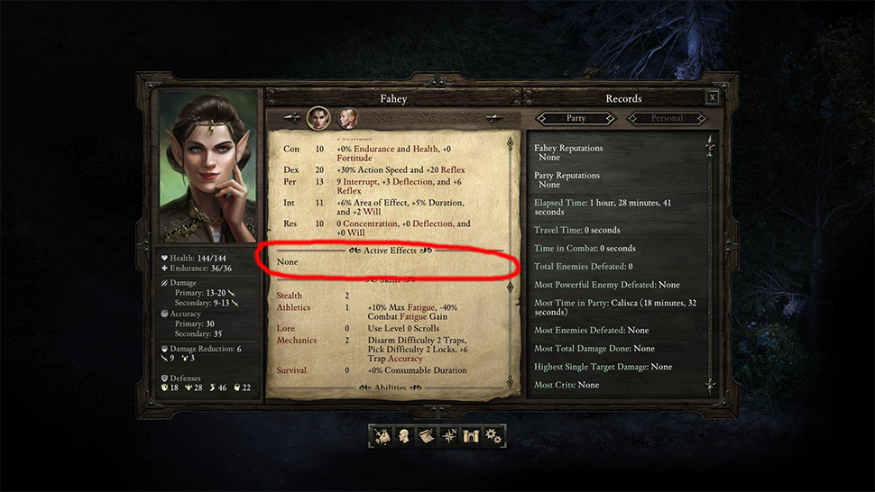 Pillars Of Eternity Characters Crippled By Ridiculous Inventory Bug