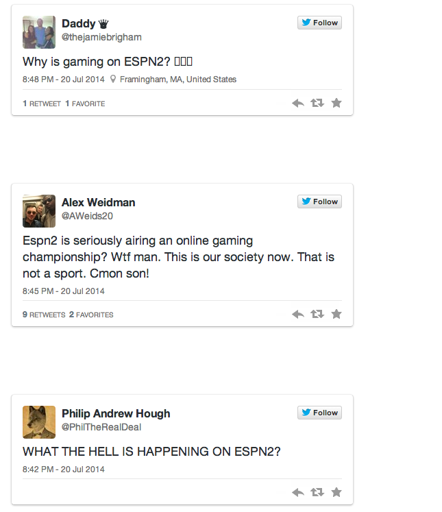 Some Sports Fans Upset ESPN Is Airing Video Game Tournaments