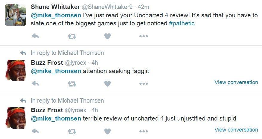 Reviewer Targeted For Giving Uncharted 4 Negative Review