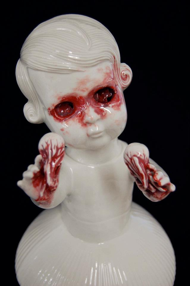 Nightmare porcelain figures for evil grandmas
