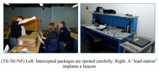 Look at the NSA Implanting Backdoors into Intercepted Electronics