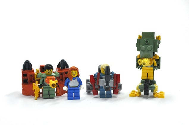 Classic 80s Cartoon Centurions As LEGO Minifigs