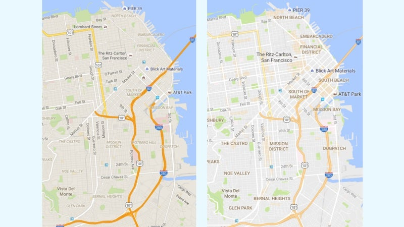 Google Maps Debuts A Clean New Look And 'Areas Of Interest' Feature