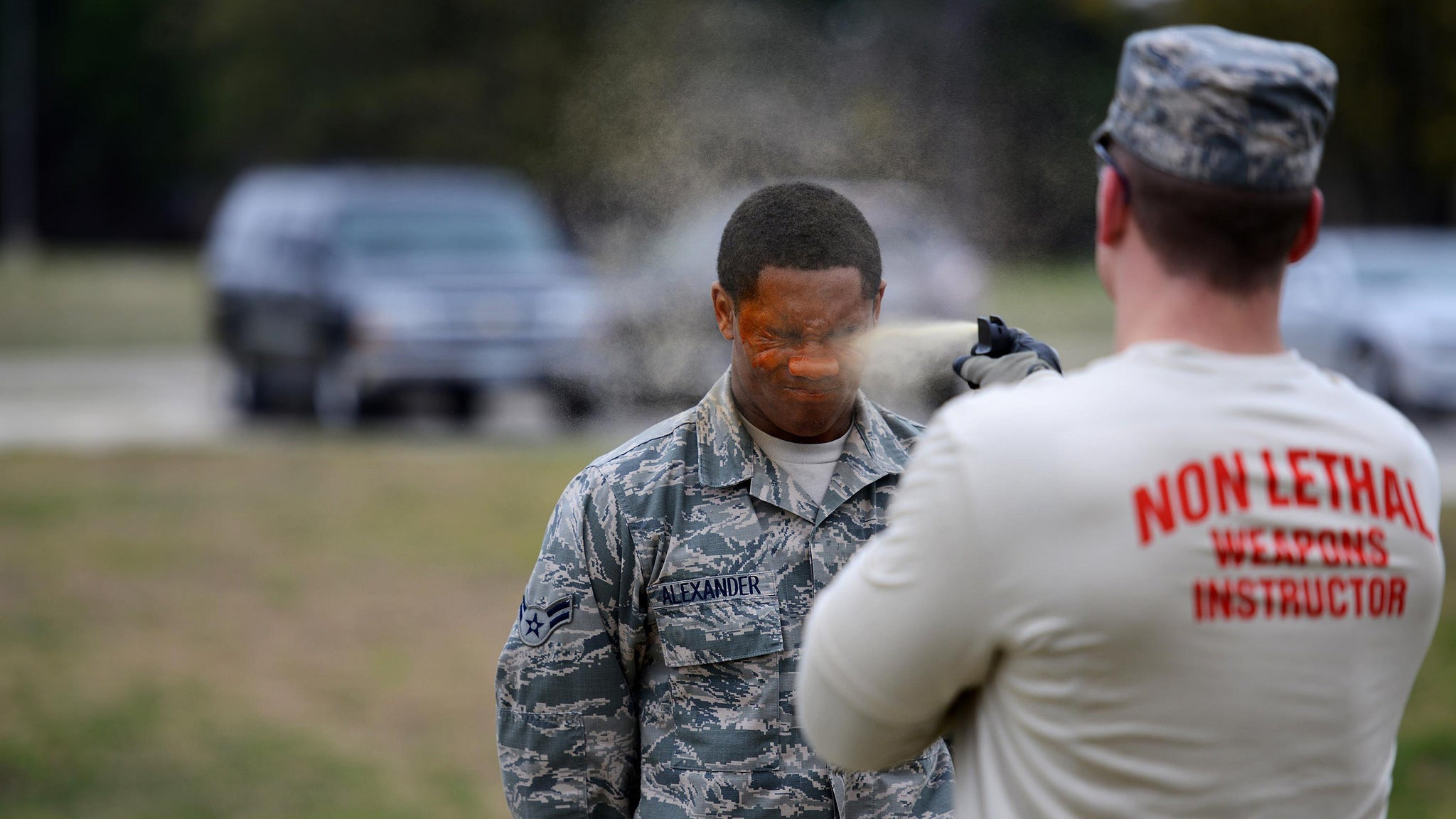 To Join the Military Police, You Must Get Pepper Sprayed in the Face