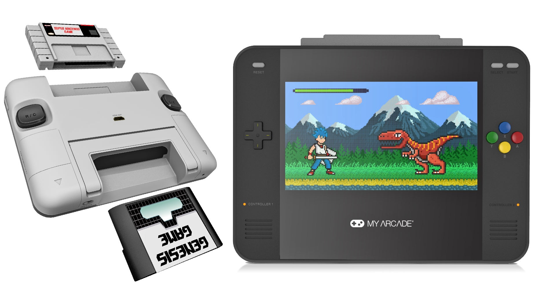 The Super Retro Champ Plays SNES And Sega Genesis Cartridges, Bringing Peace To Retro Gaming
