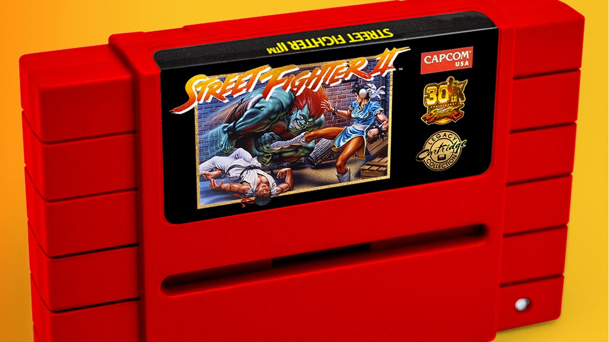 Street Fighter II: 30th Anniversary Edition SNES Cartridge Glows in the Dark