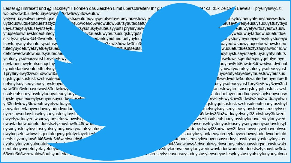 Twitter outsmarted! Two Germans post 35000-character tweet