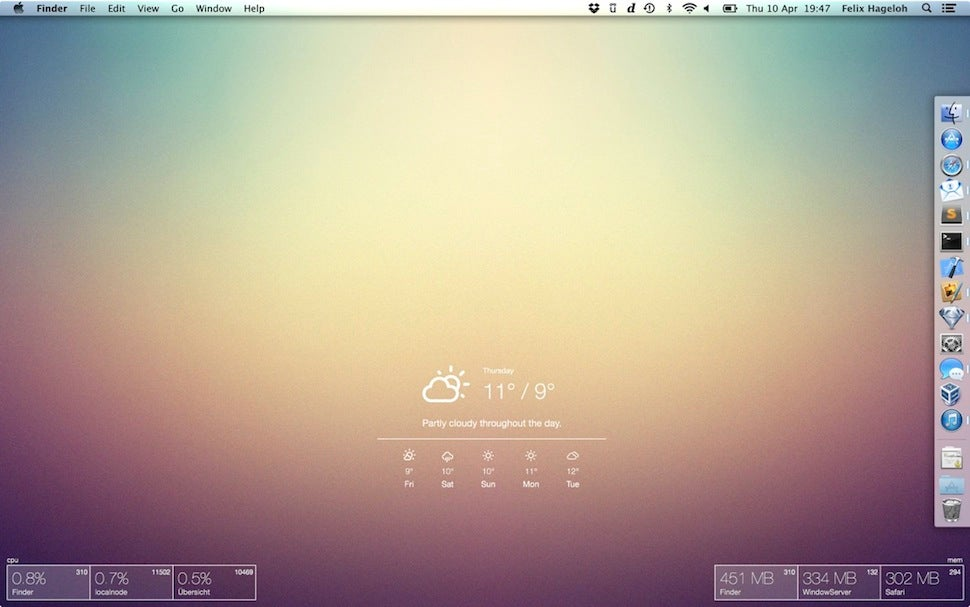 Übersicht Customises Your OS X Desktop With Widgets And Useful Data