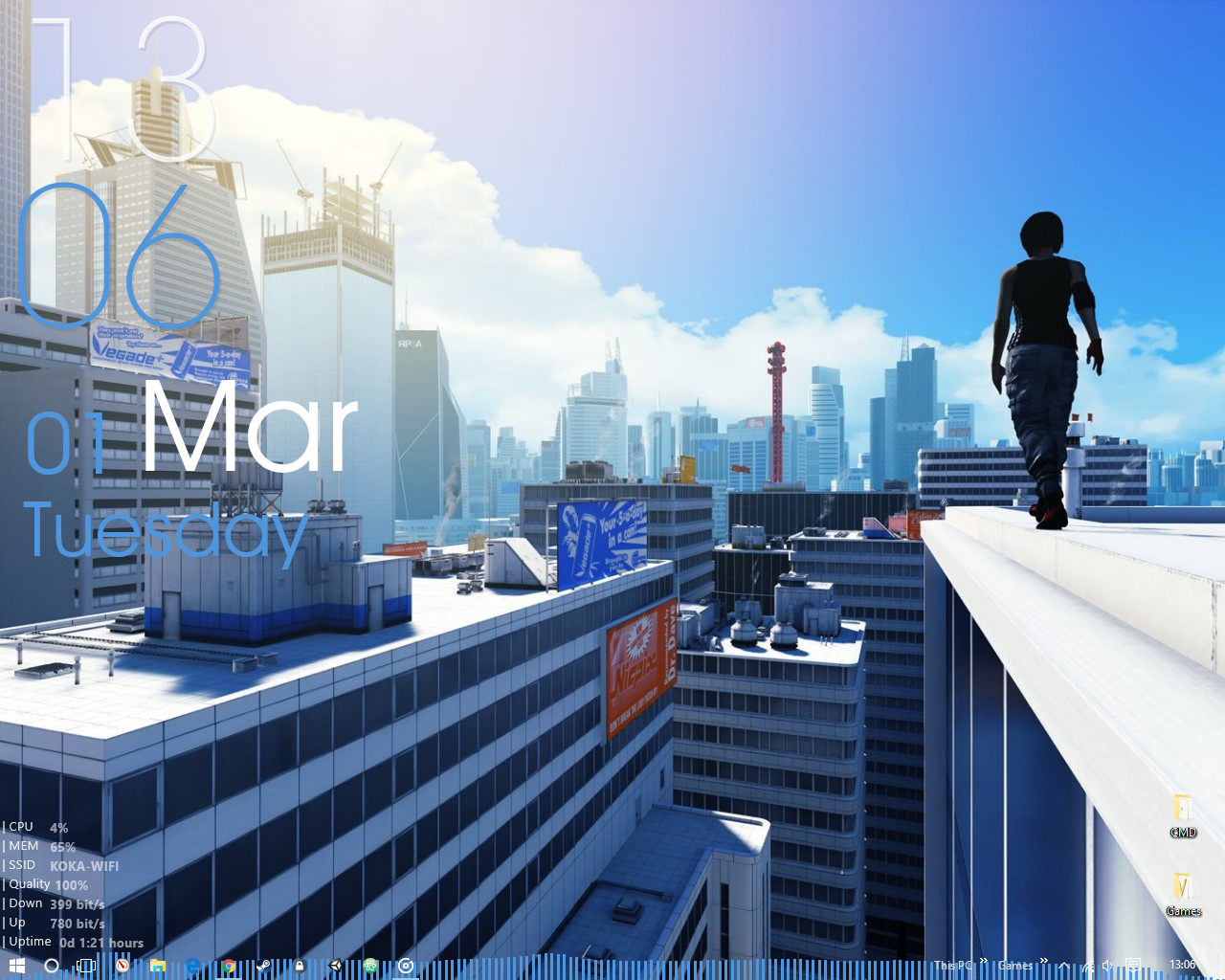 The Mirror's Edge Desktop