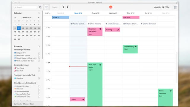 Sunrise, The Smart Calendar, Is Now Available For Mac