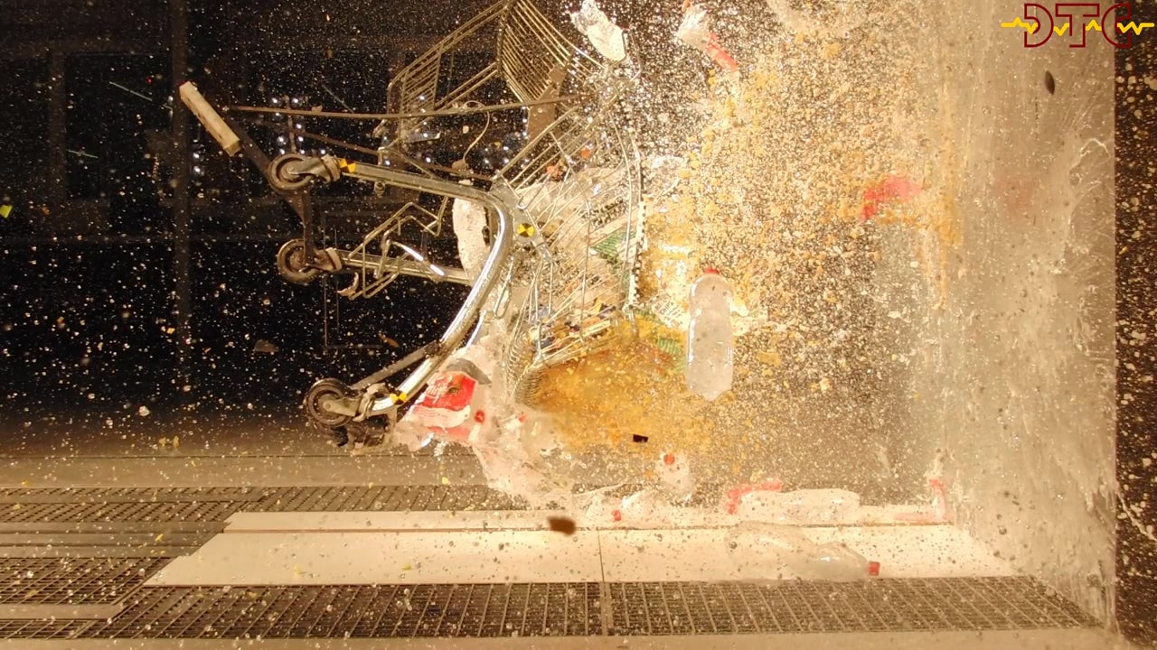 What Happens When A Shopping Cart Hits A Wall At 117.8km/h