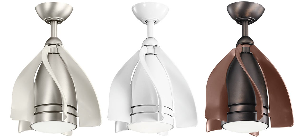 A Smaller Ceiling Light Fan bo Can Squeeze Into The Tiniest
