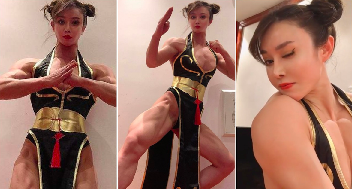 Bodybuilder Does A Mean Chun-Li Cosplay