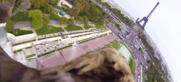 This is what Paris looks like from an eagle's point of view