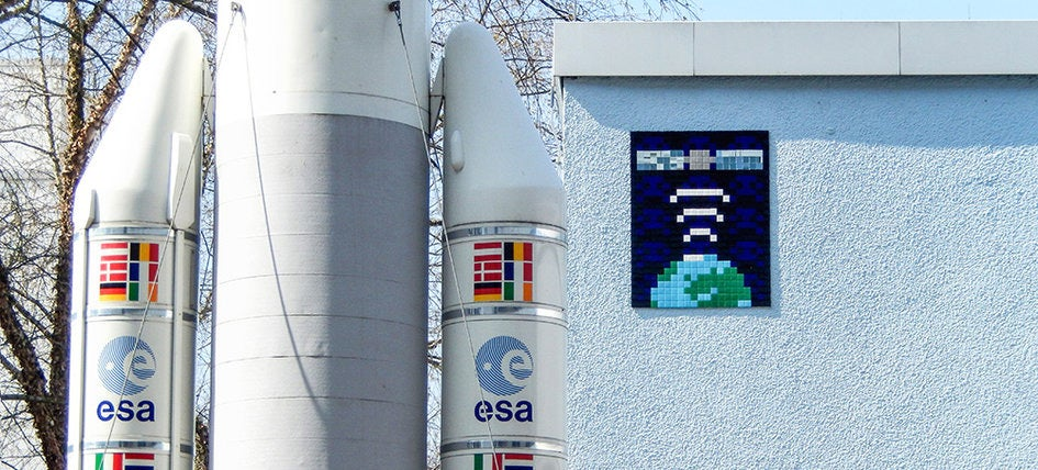 The European Space Agency Is Being Littered With Pacman-Style Art