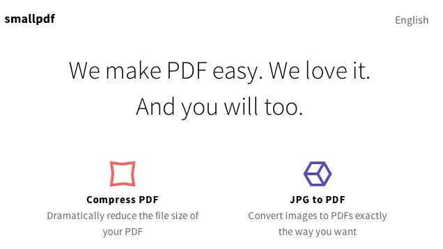 SmallPDF Compresses PDFs From The Cloud
