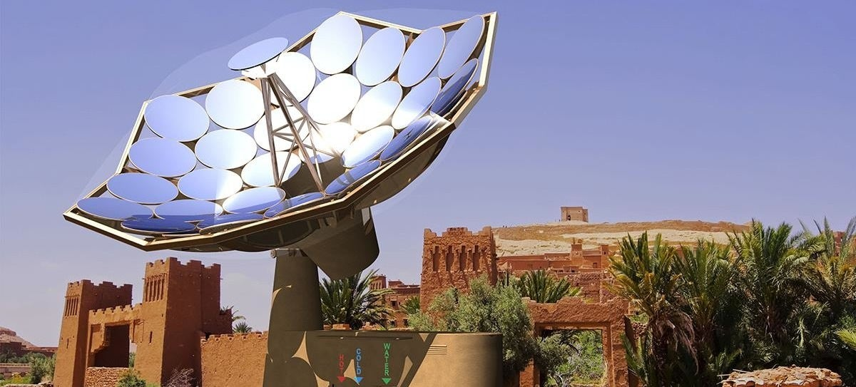 This Solar Sunflower Provides Electricity and Clean, Hot Water