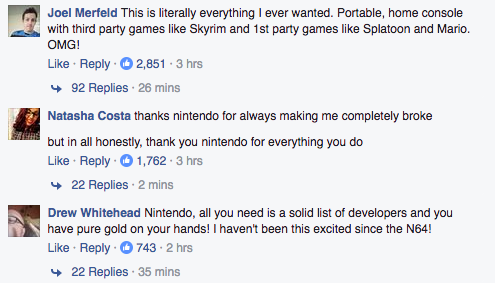 The Internet Reacts To The Nintendo Switch