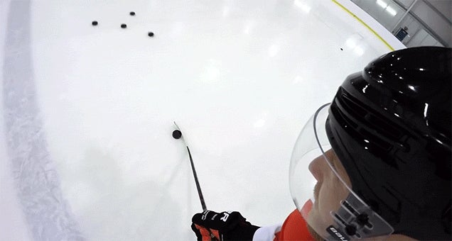 Seeing a First Person View of Hockey Tricks Is So Damn Cool