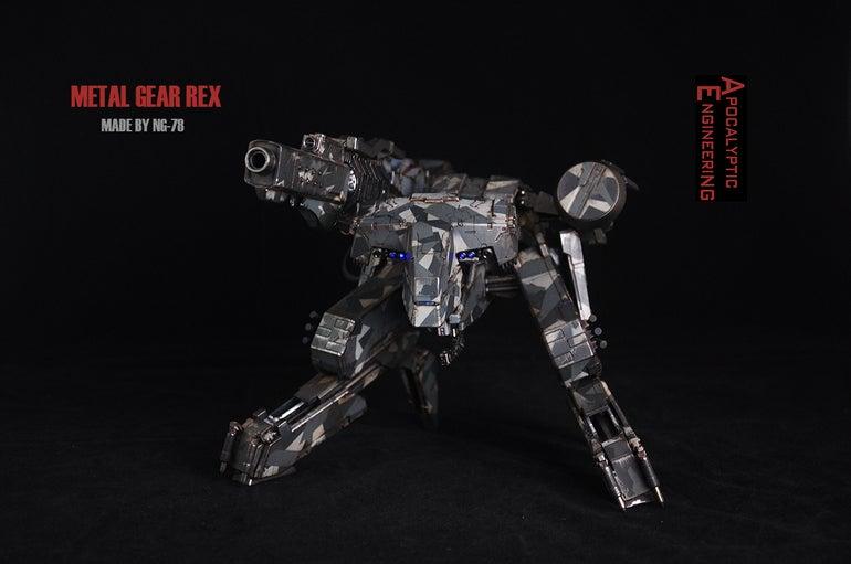 Custom Metal Gear Rex Has A Working Gun