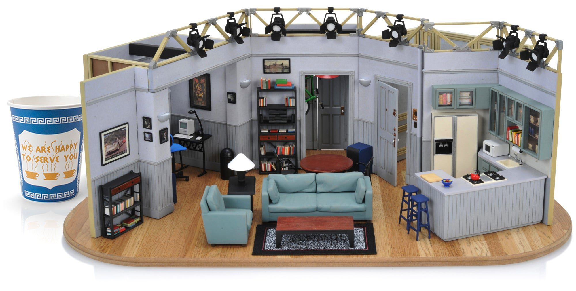 This Flawlessly Detailed Tiny Replica Of Seinfeld's Apartment Costs $US400