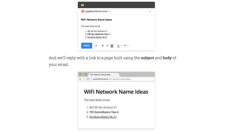 Publishthis.email Instantly Turns An Email Into A Web Page