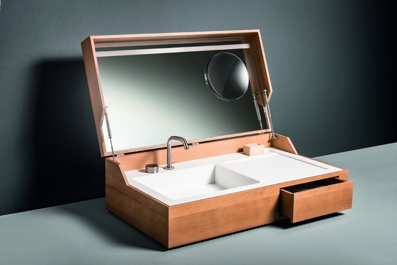 This Sink-In-A-Box Tucks Away To Keep Your Bathroom Tidy