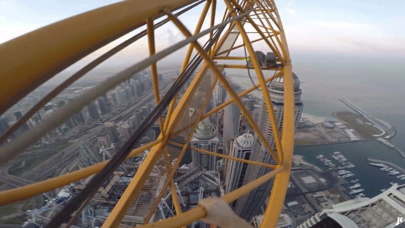 POV Solo Climb of the World's Tallest Residential Building Is Guaranteed to Get Your Palms Sweating