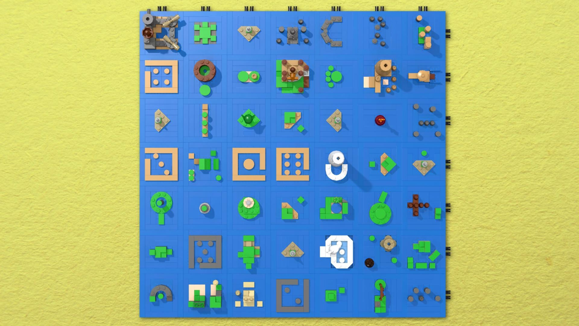 the legend of zelda the wind waker's sea chart as a lego  - the legend of zelda the wind waker's sea chart as a lego microbuild