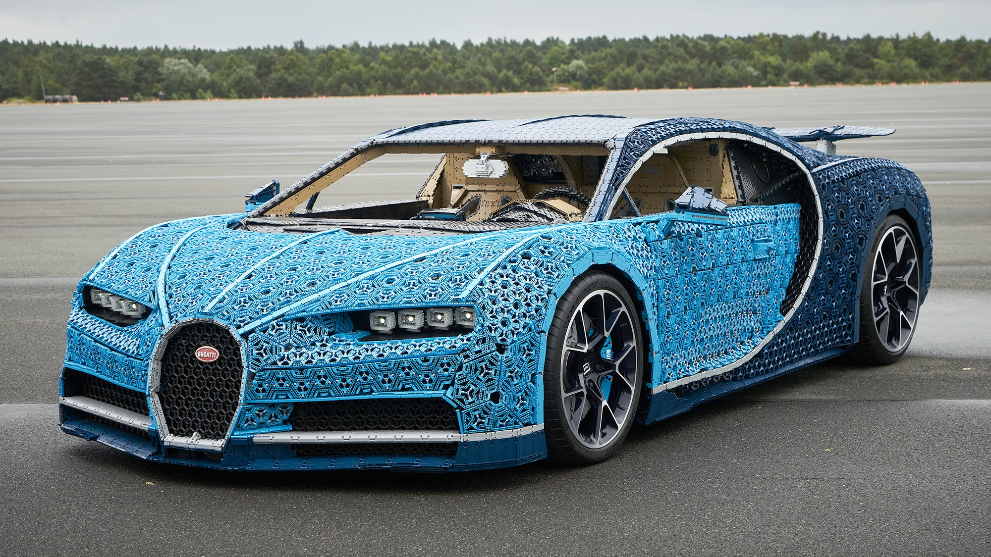 Marvel At This Drivable Bugatti Chiron, Built From A Million LEGO Pieces And 2304 Electric Toy Motors